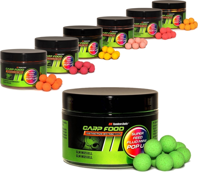 Super Feed Fluo Pop Up boilies 14/18mm 200ml 199 24300 - Super Feed Fluo Pop Up boilies 14/18mm 200ml