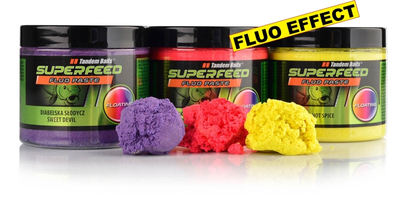 SuperFeed - Fluo Floating - Pasta 160g,Squid Orange