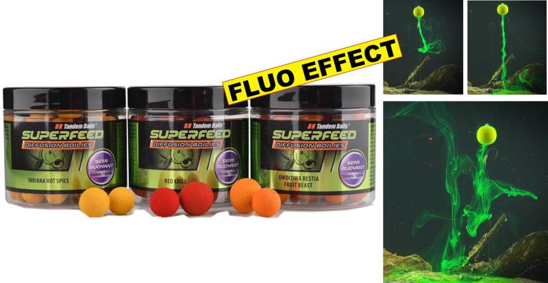 SuperFeed- Diffusion Mini Boilies-plovoucí 14-16mm / 90g, Red Krill-če