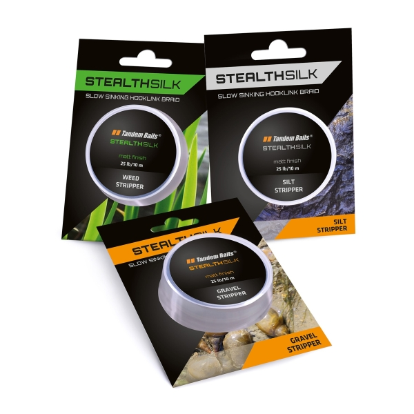 Šňůra Stealth Silk Stripper 25 lb / 10 m Gravel