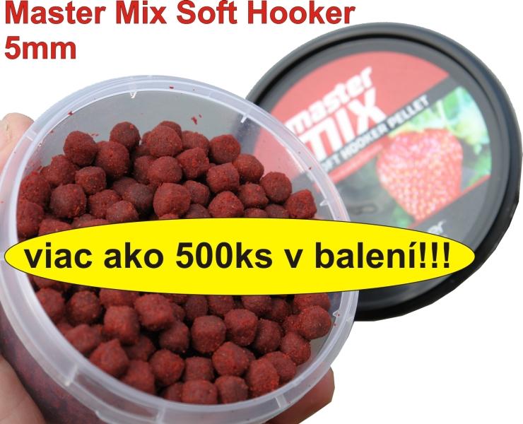 Master Mix Soft Hooker Pellet 5mm 120g Vanilka