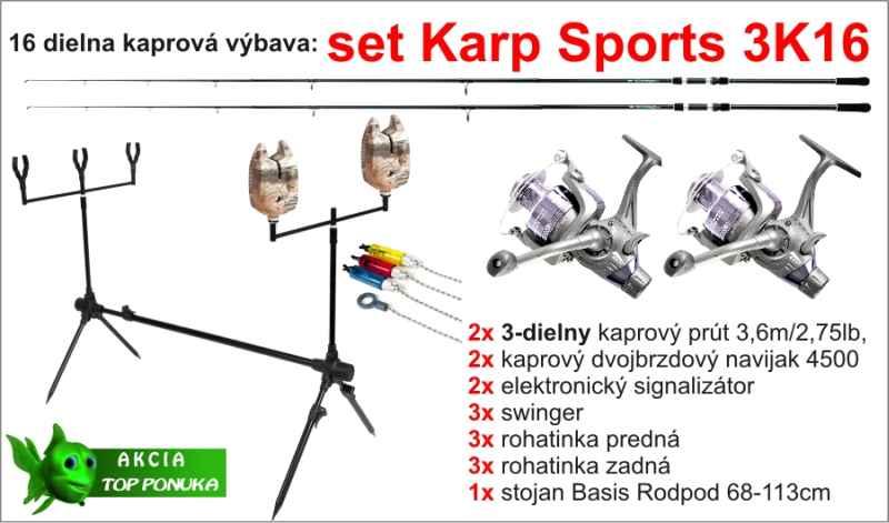 Kaprařský set 3K16 - 3dílný / 3,6m / 2,75lbs