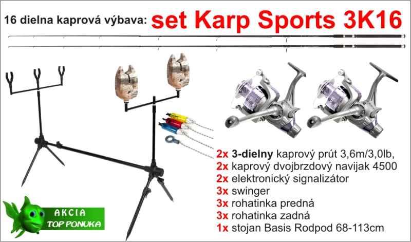Kaprařský set 3K16 - 3dílný / 3,6m / 3lbs /