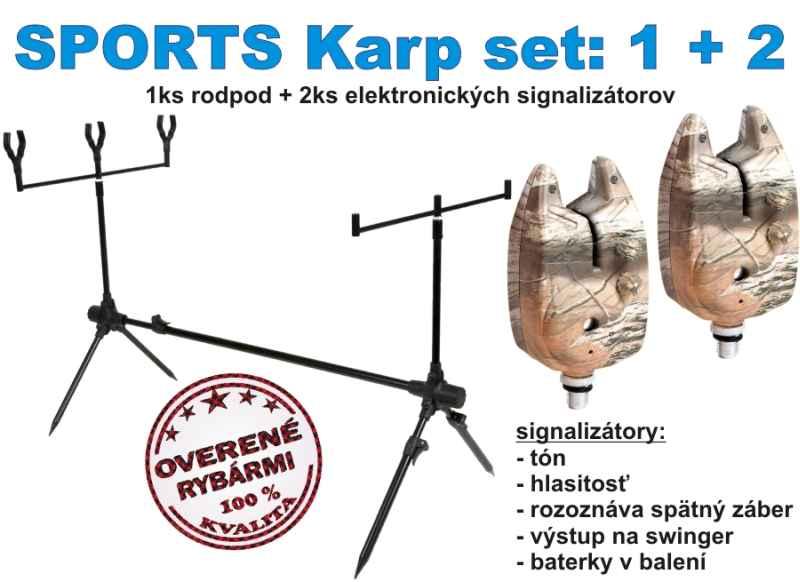 SPORTS KARP set, 1 + 2, stojan + 2 x signalizátor