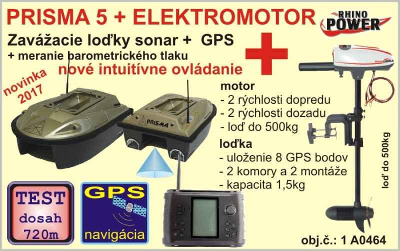 Zavážecí loďka PRISMA 5 + sonar + GPS + elektromotor