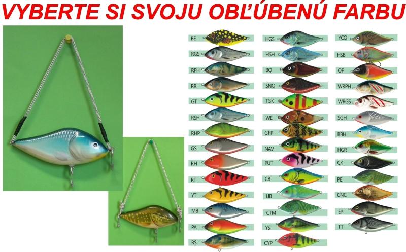 Věšák tvaru woblera Salmo Slider 12 HSB