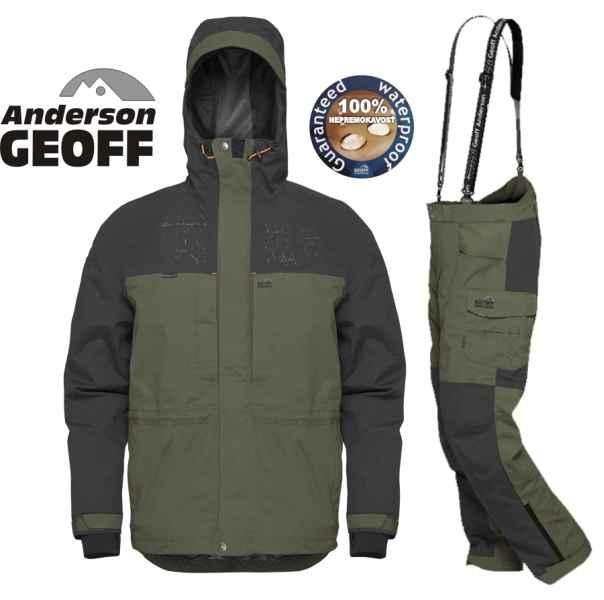 Geoff Anderson BARBARUS - bunda + kalhoty - zelená-S