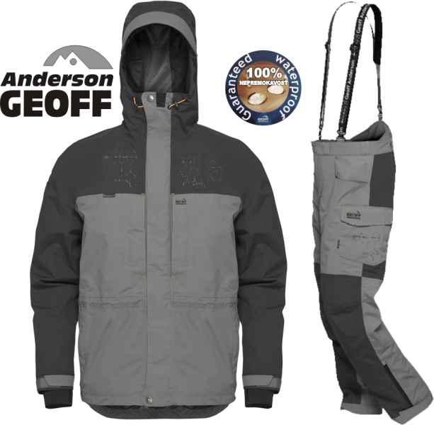 Geoff Anderson BARBARUS - bunda + kalhoty - šedá-XXXL