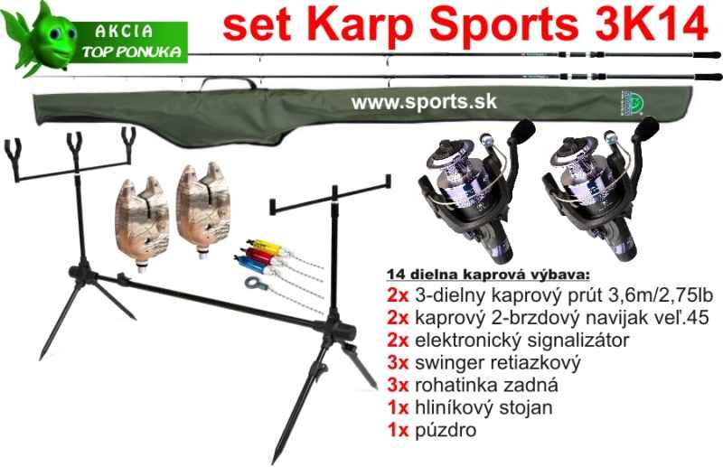 SPORTS 3K14 - Kaprový 14 dílný set - 3,6m / 2,75lbs