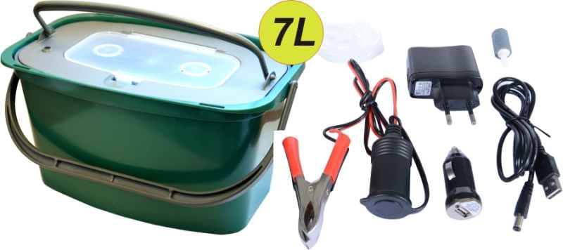 Vzduchovací motorek AA/USB/230V + Řízkovnice 7L