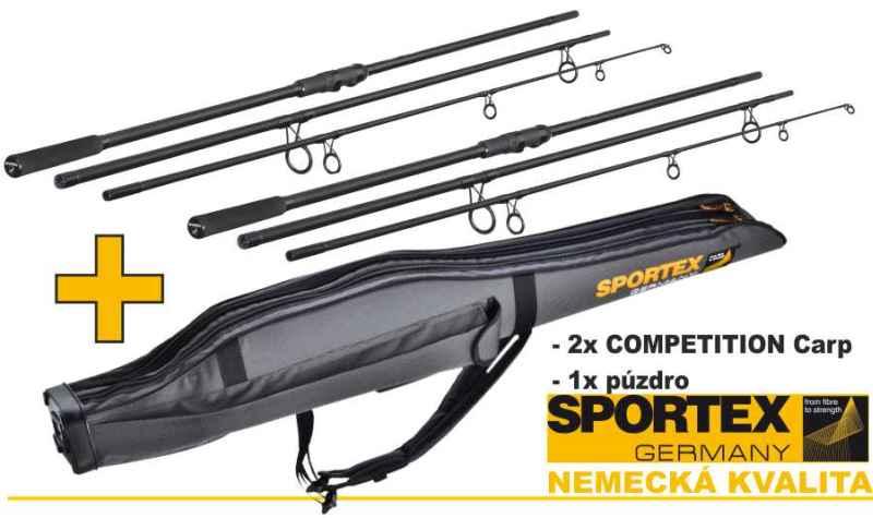 Akce Sportex 2x Competition carp NT 3díl + obal na pruty Spo