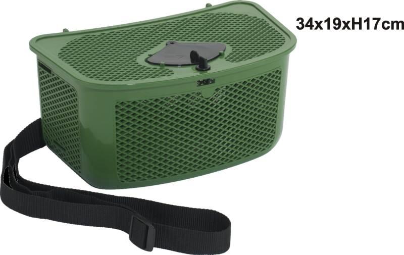 Košík s otvorem na vkládání ulovků
