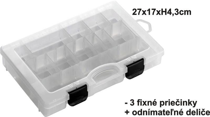 Krabička 27x17x4,3cm,3pev+var.př.