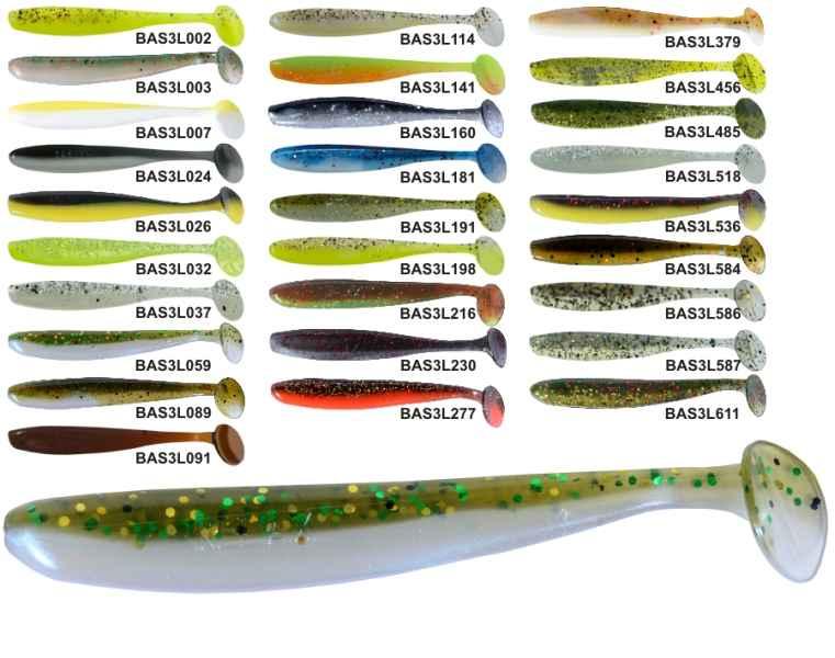 RELAX BASS 3 -7,5cm - nástraha - 1bal/10ks barva 033