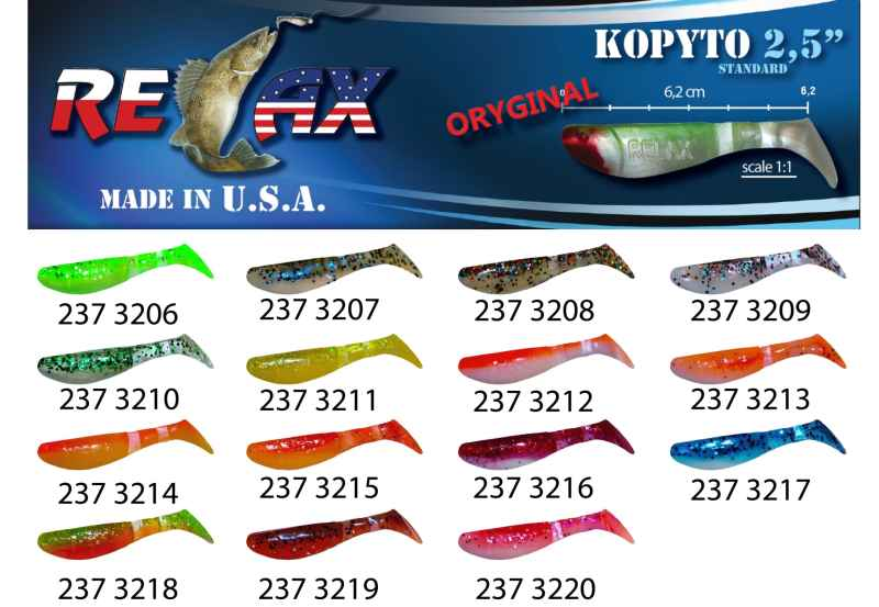RELAX kopyto RK 2,5 (6,2cm) cena 1ks/bal10ks 3206