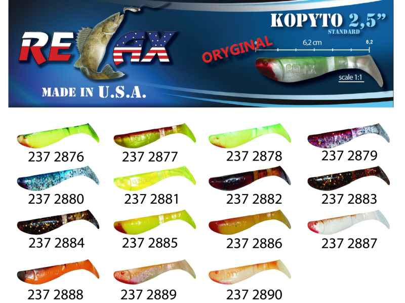 RELAX kopyto RK 2,5 (6,2cm) cena 1ks/bal10ks 2876