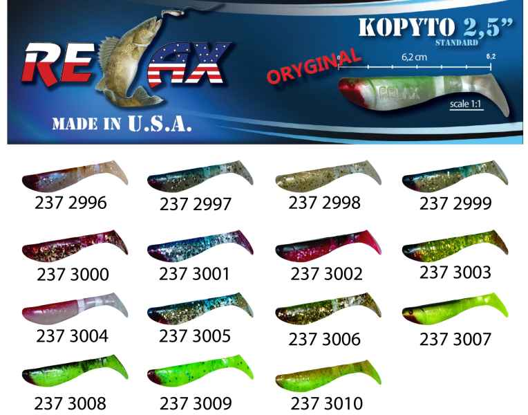 RELAX kopyto RK 2,5 (6,2cm) cena 1ks/bal10ks 2996