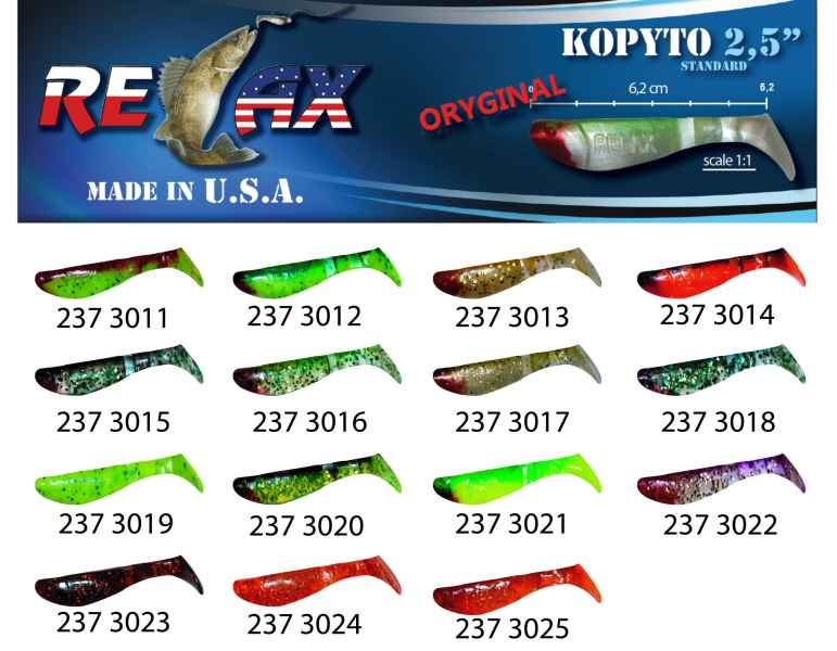 RELAX kopyto RK 2,5 (6,2cm) cena 1ks/bal10ks 3011