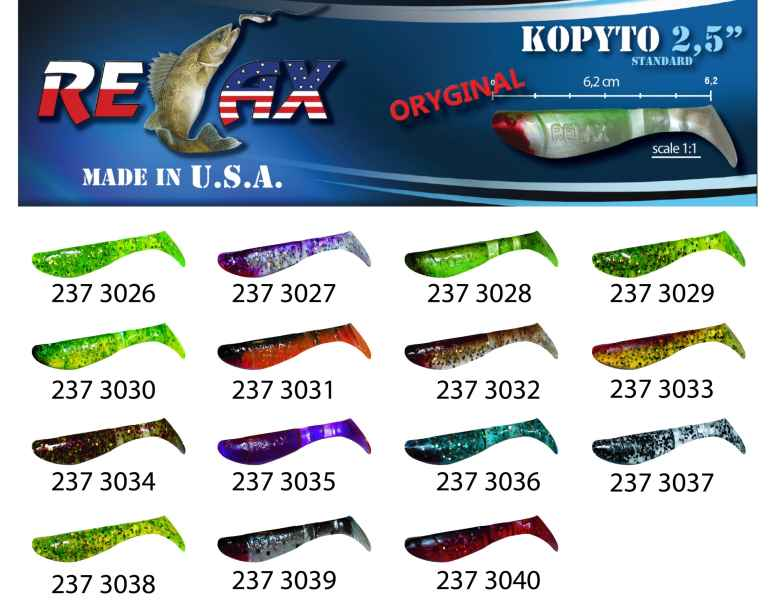 RELAX kopyto RK 2,5 (6,2cm) cena 1ks/bal10ks 3026