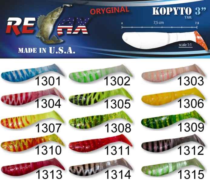 RELAX kopyto RK3-7,5cm - přívlačová nástraha 1301