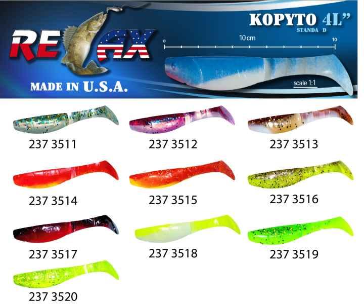 RELAX kopyto RK4-10cm - přívlačová nástraha 3511