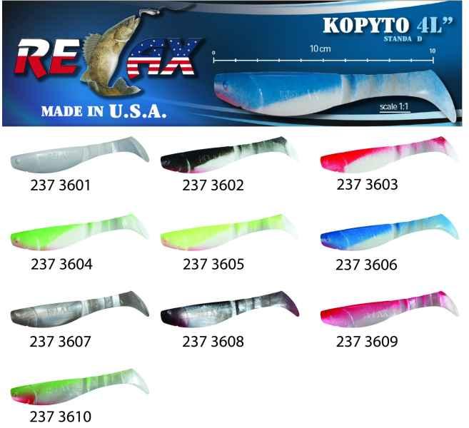 RELAX kopyto RK4-10cm - přívlačová nástraha 3601