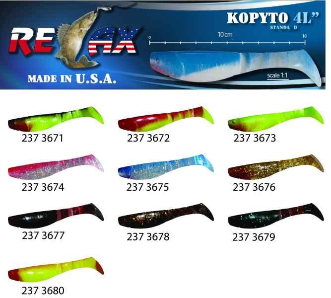 RELAX kopyto RK4-10cm - přívlačová nástraha 3671
