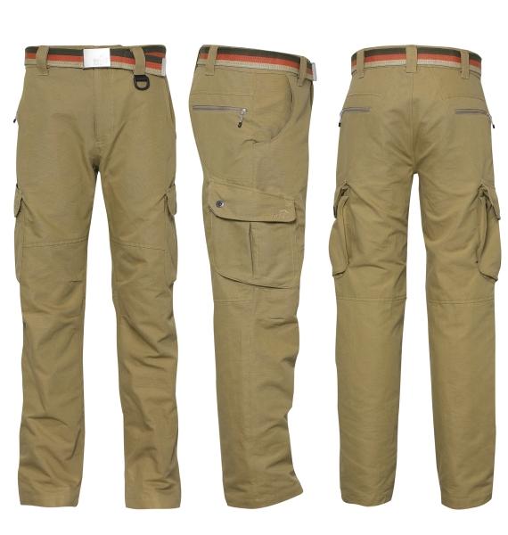 COMBAA sportovní kalhoty GEOFFAnderson khaki XS