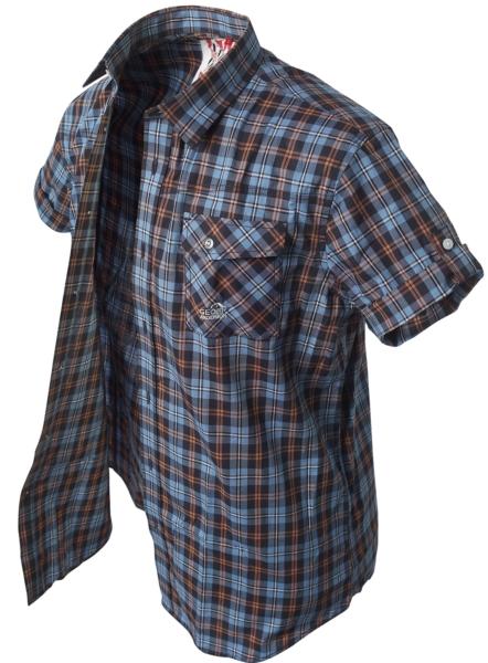 Krátká košile Banga (blue/black/orange) vel.XS