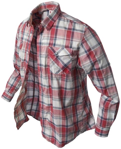 Dlouhá košile BANGA (červená/kostkovaná) vel.XS