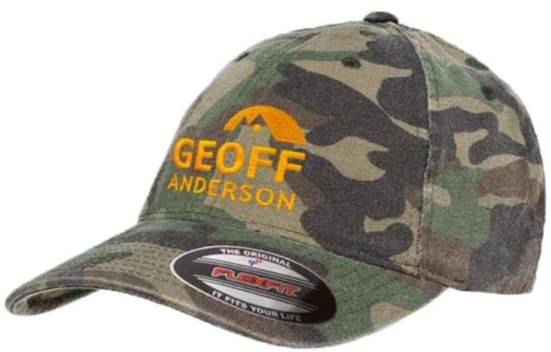 Geoff Anderson kšiltovka Flexfit camo s logem