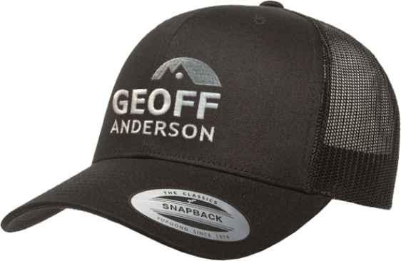 Geoff Anderson kšiltovka Snapback s logem černá