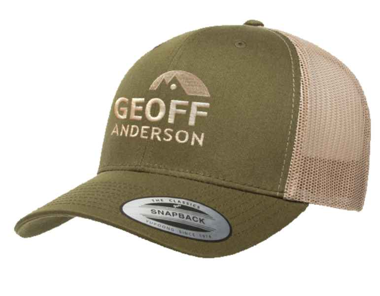 Geoff Anderson kšiltovka Trucker 6606 zelená