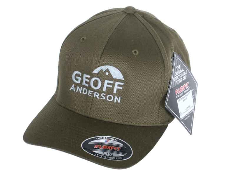 Geoff Anderson kšiltovka Flexfit Olive zelená L / XL