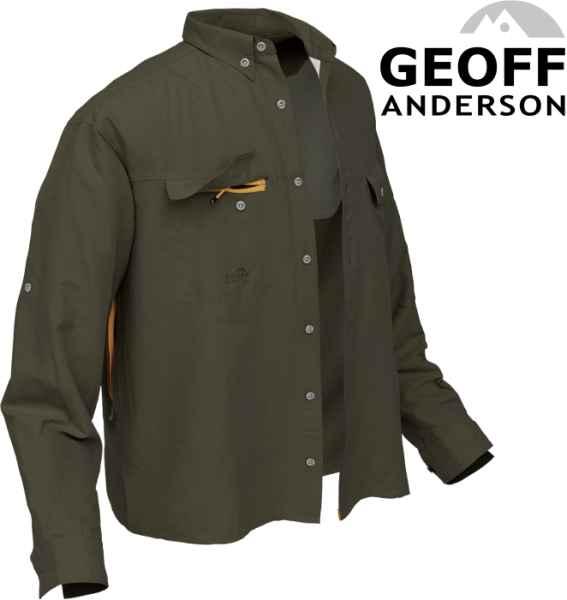 Košile Polybrush 2 Geoff Anderson dlouhý rukáv - zelená M