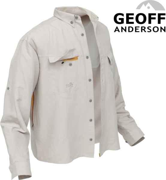 Košile Polybrush 2 Geoff Anderson dlouhý rukáv - písková L