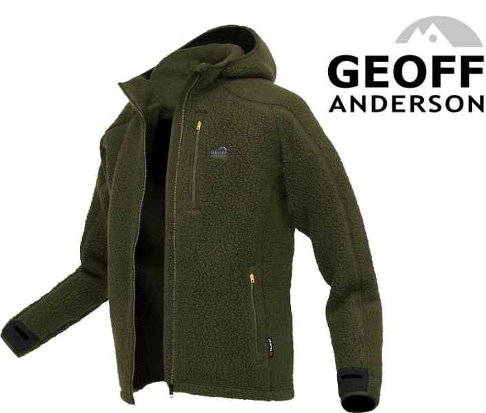 Bunda s kapucí TEDDY Geoff Anderson - Zelený vel.Jumbo X