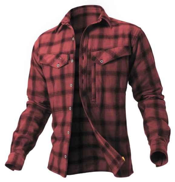 Košile Ezmar Geoff Anderson dlouhý rukáv - červená L