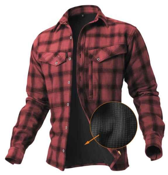 Geoff Anderson zateplená košile Ezmar+  červená L