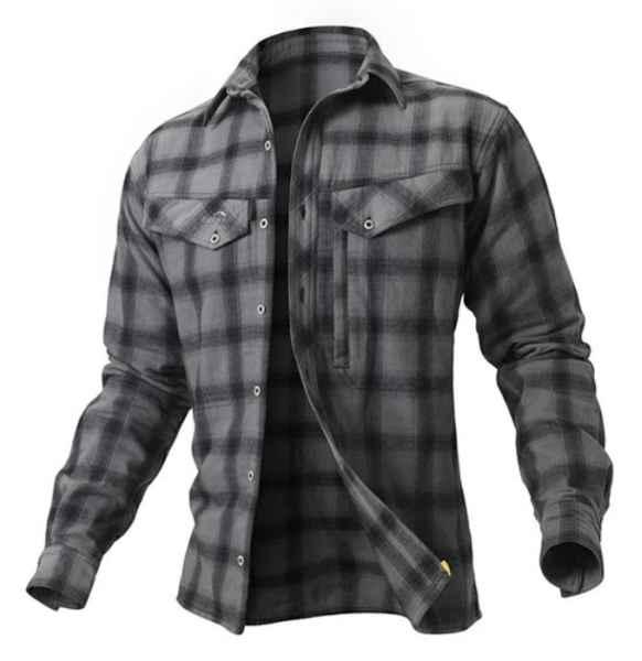 Košile Ezmar Geoff Anderson dlouhý rukáv - šedá L