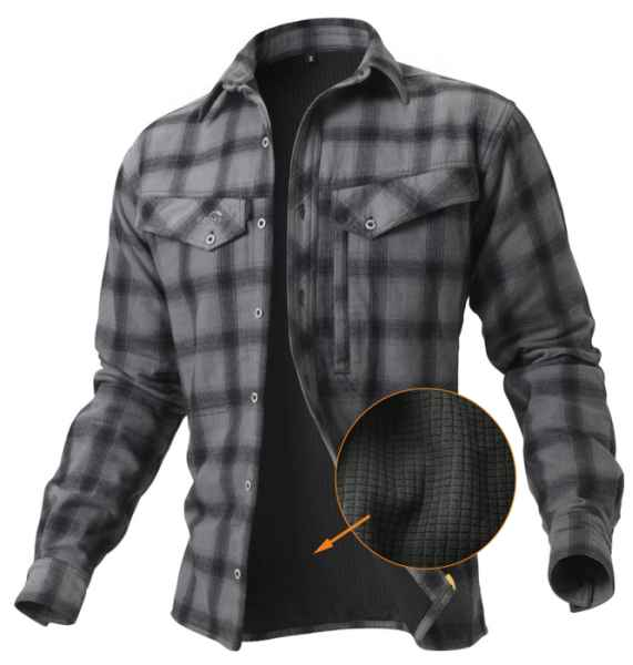 Geoff Anderson zateplená košile Ezmar+  šedá L