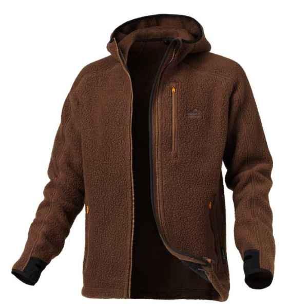 Bunda s kapucí TEDDY Geoff Anderson - hnědá XL