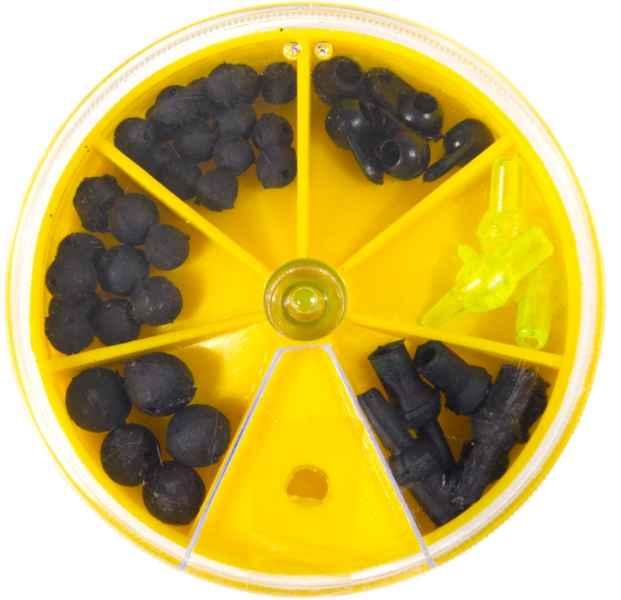 Rybářské stopery gumové kuličky mix