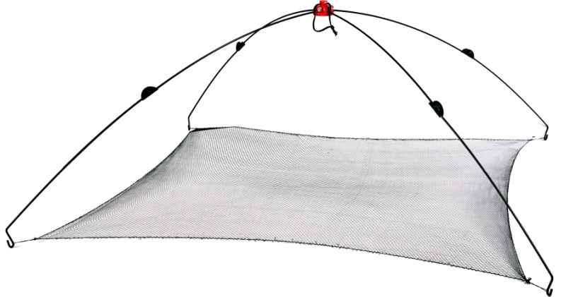 Čeřen na nástražní rybky se síťkou 1x1m