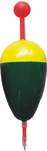 Splávek na lov ryb žluto-zelený KP 14g