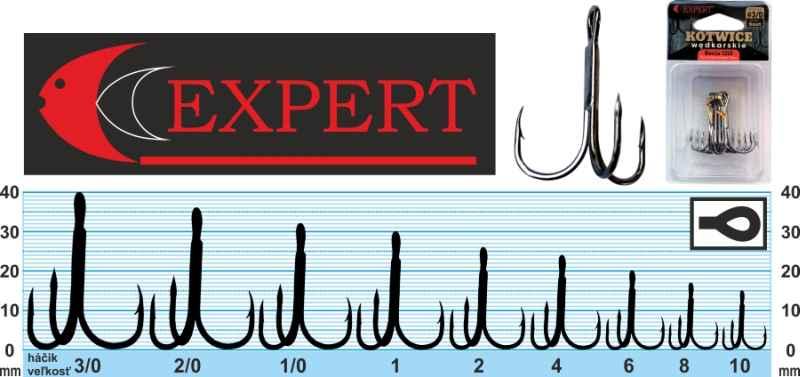 Trojháček s protihrotem Expert 1213 černý č.1 6ks