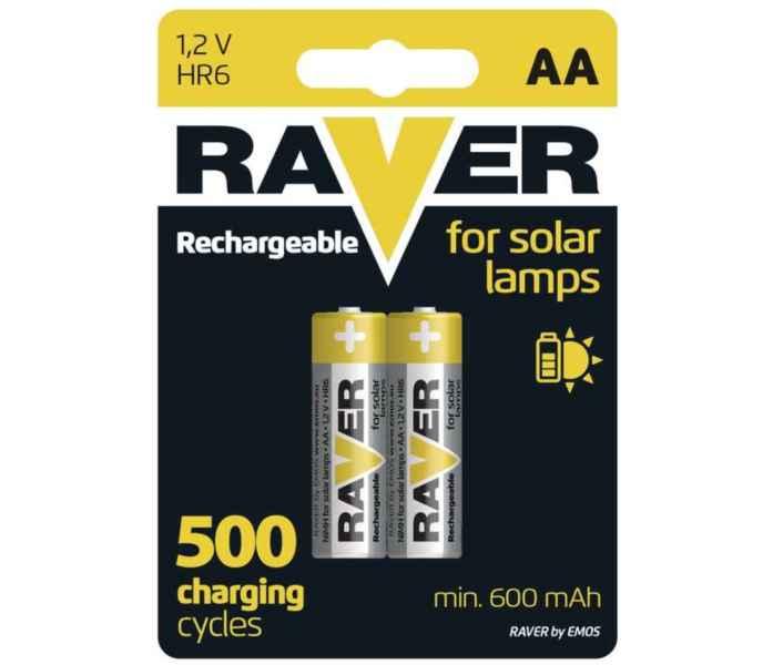 Nabíjecí 1,2V AA baterie RAVER - 2ks bal / cena za 1ks