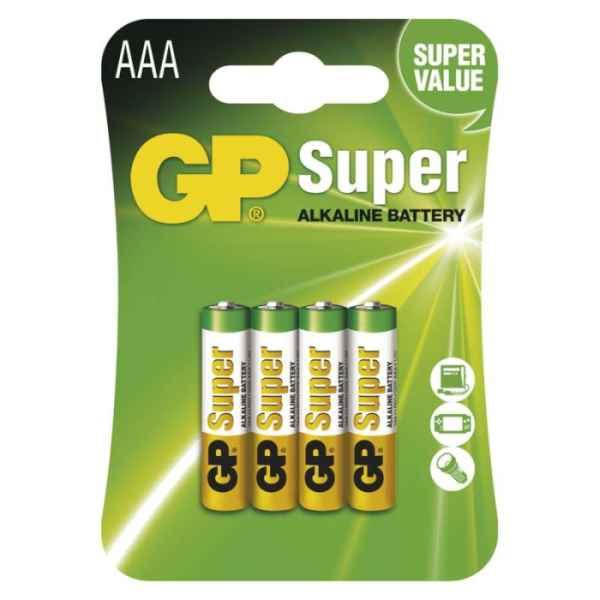Alkalická baterie GP Super AAA 4ks bal / cena za 1ks