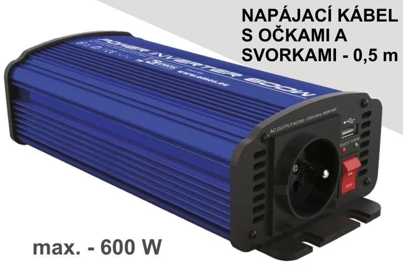 Měnič stejnosměrného napětí na střídavý prut - 600W