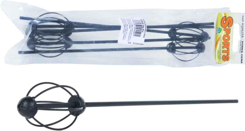 SPORTS krmítko 25cm dlouhé barvené černé, 5ks,20g